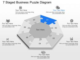 pi 7 Staged Business Puzzle Diagram Powerpoint Template