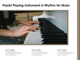 Pianist Playing Instrument In Rhythm For Music