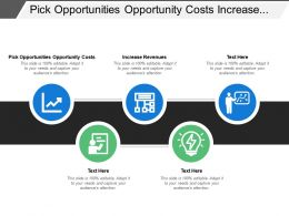 Pick Opportunities Opportunity Costs Increase Revenues Plan The Production