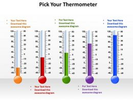 pick your thermometer of different styles temperature measurement powerpoint diagram templates graphics 712