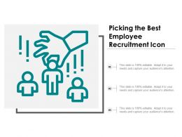Picking The Best Employee Recruitment Icon