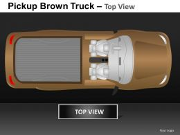 Pickup Brown Truck Top View Powerpoint Presentation Slides DB