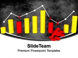 Pics Of Bar Graphs And Downs Business Powerpoint Templates Themes
