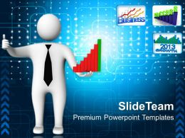 Pics Of Bar Graphs With Thumps Up People Powerpoint Templates And Themes
