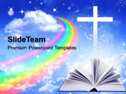 Pics Of Jesus Powerpoint Templates Magic Book Education Process Ppt Backgrounds