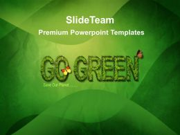Picture Nature Download Powerpoint Templates Go Green Growth Ppt Slides