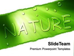 Picture Nature Download Powerpoint Templates Go Green Image Growth Ppt Theme