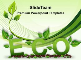 Picture Nature Download Powerpoint Templates Green Eco Growth Ppt Slides