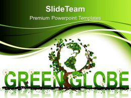 Picture Nature Download Powerpoint Templates Green Globe Environment Image Ppt Slide