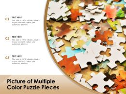 Picture Of Multiple Color Puzzle Pieces
