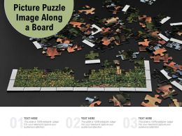 Picture Puzzle Image Along A Board