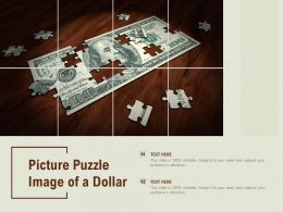 Picture Puzzle Image Of A Dollar