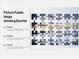 Picture Puzzle Image Showing Sunrise