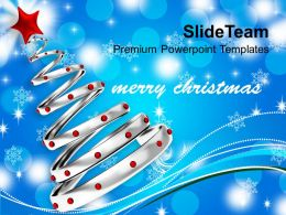 pictures_of_christmas_trees_silver_with_red_balls_festival_templates_ppt_backgrounds_for_slides_Slide01