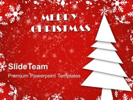Pictures Of Christmas Trees Simple Vector Celebration Powerpoint Templates Ppt Backgrounds For Slides