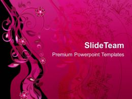Pictures Of Nature Powerpoint Templates Floral Decoration Abstract Diagram Ppt Slide