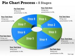 Pie chart 8 Step diagram circular 4