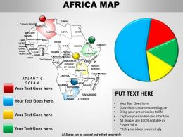Pie Chart And African Map 1114