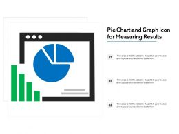 Pie Chart And Graph Icon For Measuring Results
