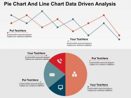 Pie Chart And Line Chart Data Driven Analysis Powerpoint Slides