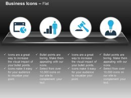 Pie Chart Business Bar Graph Gavel Idea Generation Ppt Icons Graphics