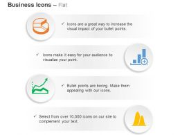 Pie Chart Business Data Linear Growth Curves Ppt Icons Graphics