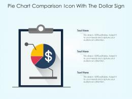 Pie Chart Comparison Icon With The Dollar Sign