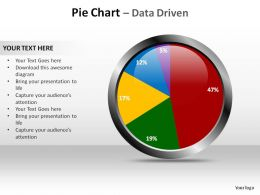 pie chart data driven slides diagrams templates powerpoint info graphics