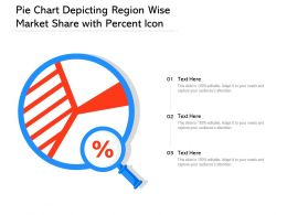 Pie Chart Depicting Region Wise Market Share With Percent Icon