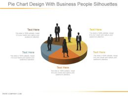Pie Chart Design With Business People Silhouettes Ppt Images Gallery