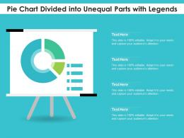 Pie Chart Divided Into Unequal Parts With Legends