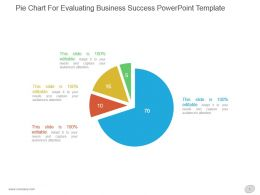Pie Chart For Evaluating Business Success Powerpoint Template