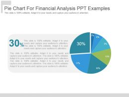 Pie Chart For Financial Analysis Ppt Examples