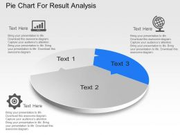 Pie Chart For Result Analysis Powerpoint Template Slide