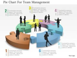Pie Chart For Team Mangement Powerpoint Template