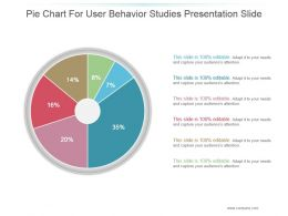 Pie Chart For User Behavior Studies Presentation Slide