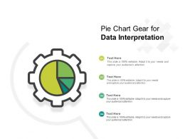 Pie Chart Gear For Data Interpretation