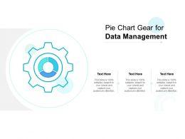 Pie Chart Gear For Data Management