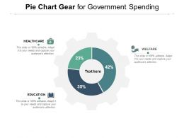 Pie Chart Gear For Government Spending