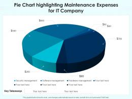 Pie Chart Highlighting Maintenance Expenses For IT Company