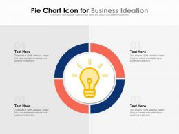 Pie Chart Icon For Business Ideation