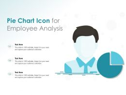 Pie Chart Icon For Employee Analysis