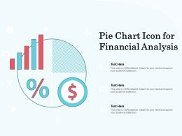 Pie Chart Icon For Financial Analysis
