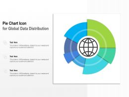 Pie Chart Icon For Global Data Distribution