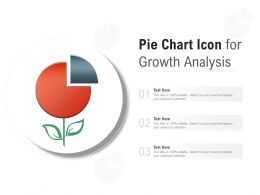 Pie Chart Icon For Growth Analysis