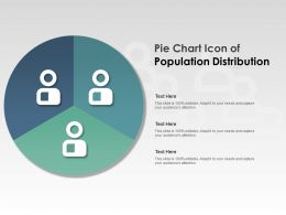 Pie Chart Icon Of Population Distribution