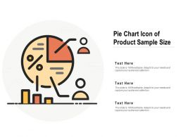 Pie Chart Icon Of Product Sample Size