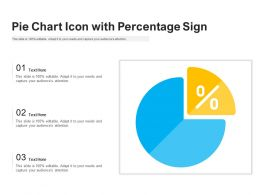 Pie Chart Icon With Percentage Sign