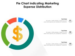 Pie Chart Indicating Marketing Expense Distribution
