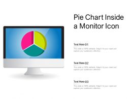 Pie Chart Inside A Monitor Icon